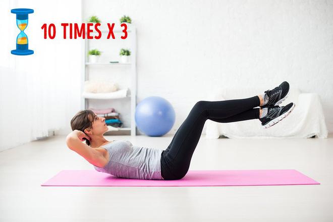 Bài tập giảm mỡ bụng 1: Gập bụng